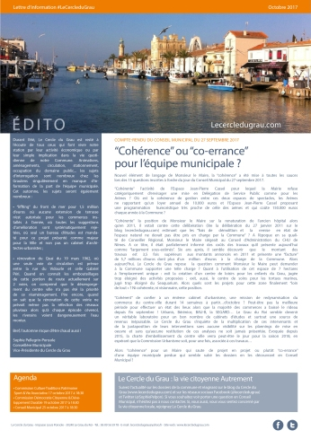 Newsletter_Octobre 2017