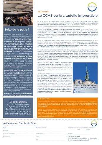 Newsletter Decembre 20172